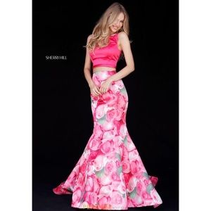Sherri Hill 51848 Rose Print Dress